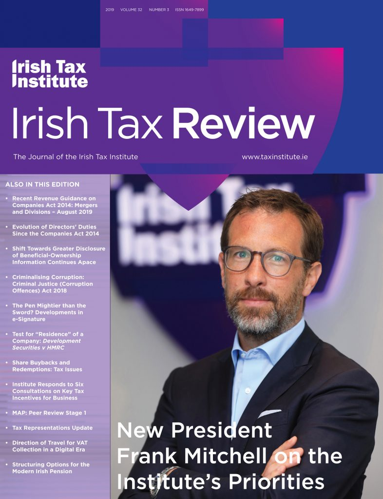 2019_Irish Tax Review_Issue_3_Cover